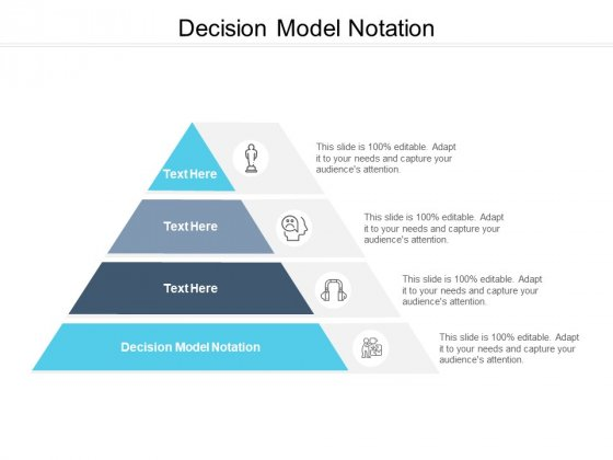 Decision Model Notation Ppt PowerPoint Presentation Infographics Objects Cpb Pdf