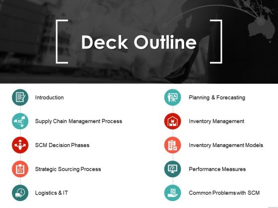 Deck Outline Ppt PowerPoint Presentation Infographic Template Pictures