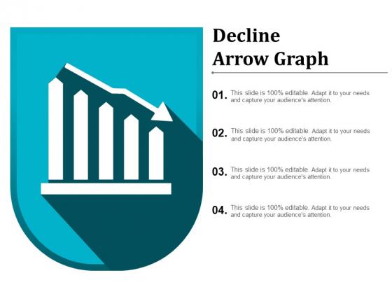 Decline Arrow Graph Ppt PowerPoint Presentation Pictures Portfolio
