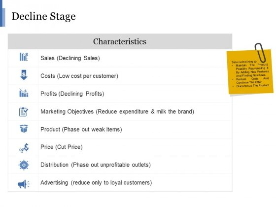 Decline Stage Ppt PowerPoint Presentation Layouts Model
