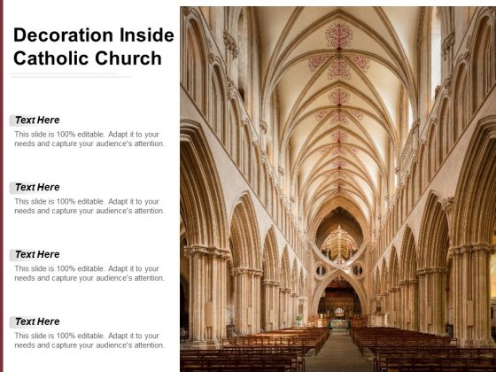 Decoration Inside Catholic Church Ppt PowerPoint Presentation Infographic Template Clipart