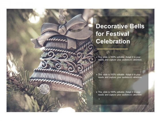 Decorative Bells For Festival Celebration Ppt PowerPoint Presentation Layouts Graphics Template