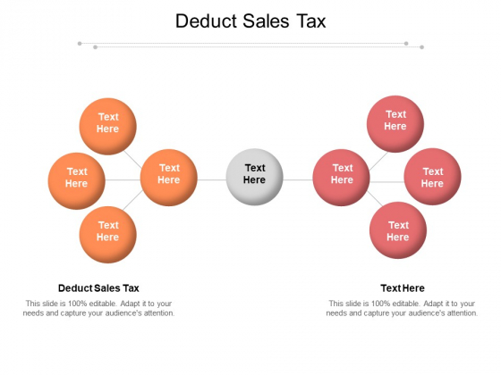 Deduct Sales Tax Ppt PowerPoint Presentation Slide Download Cpb Pdf