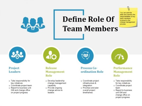 Define Role Of Team Members Ppt PowerPoint Presentation Professional Good