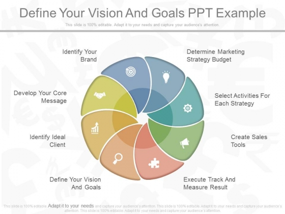 Define Your Vision And Goals Ppt Example