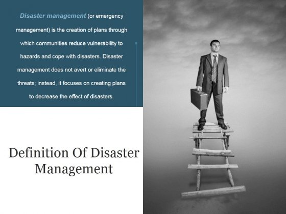 Definition Of Disaster Management Ppt PowerPoint Presentation Ideas Objects