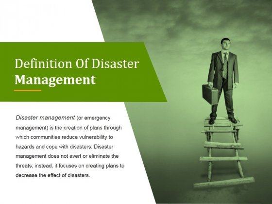 Definition Of Disaster Management Ppt PowerPoint Presentation Inspiration