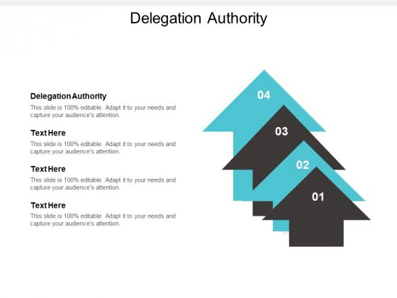 Delegation Authority Ppt PowerPoint Presentation Pictures Images Cpb