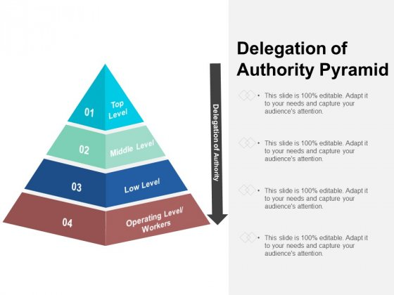 Delegation Of Authority Pyramid Ppt PowerPoint Presentation Show Portfolio
