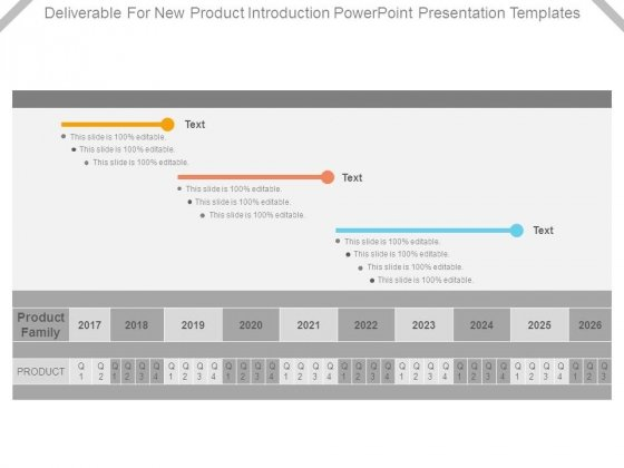 Deliverable For New Product Introduction Powerpoint Presentation Templates
