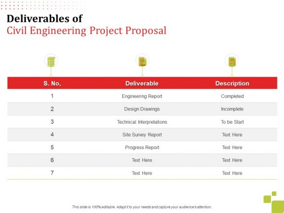 Deliverables_Of_Civil_Engineering_Project_Proposal_Ppt_Inspiration_Summary_PDF_Slide_1