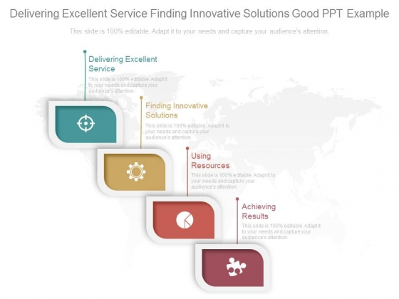 Delivering Excellent Service Finding Innovative Solutions Good Ppt Example