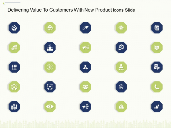 Delivering Value To Customers With New Product Icons Slide Ppt Tips PDF