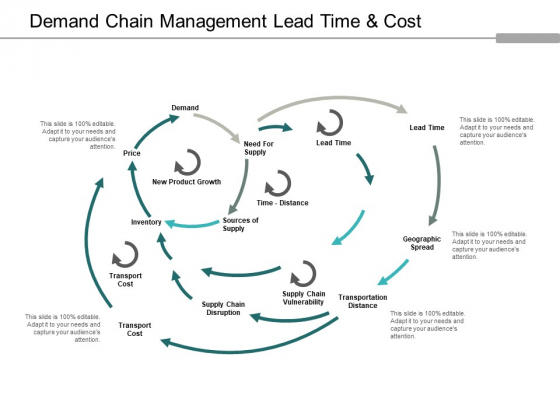 Demand Chain Management Lead Time And Cost Ppt Powerpoint Presentation Slides Objects