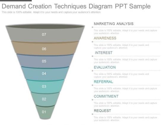 Demand Creation Techniques Diagram Ppt Sample
