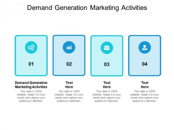 Demand Generation Marketing Activities Ppt PowerPoint Presentation File Good Cpb