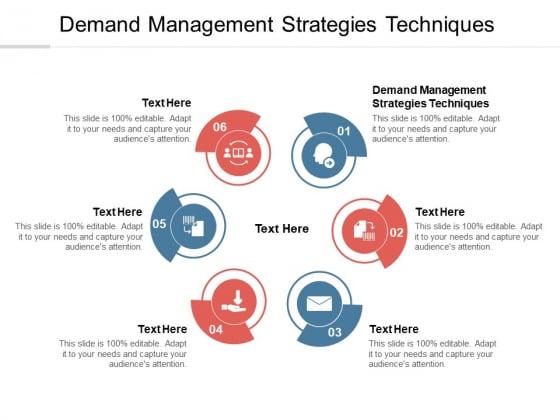 Demand Management Strategies Techniques Ppt PowerPoint Presentation Ideas Infographics Cpb