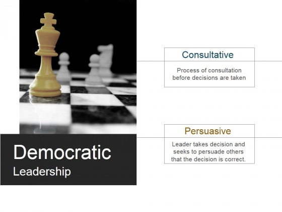 Democratic Leadership Ppt PowerPoint Presentation Gallery