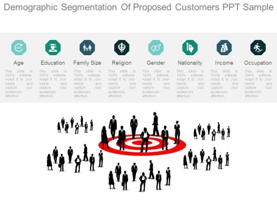 Demographic Segmentation Of Proposed Customers Ppt Sample