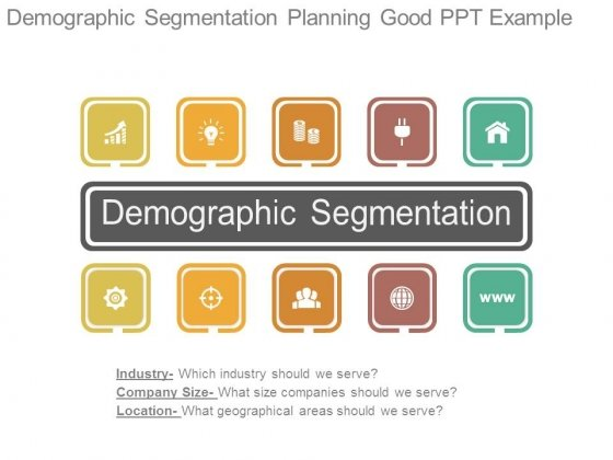 Demographic Segmentation Planning Good Ppt Example