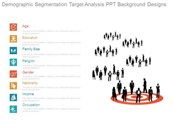 Demographic Segmentation Target Analysis Ppt Background Designs