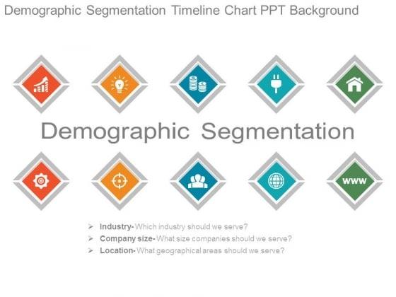 Demographic Segmentation Timeline Chart Ppt Background