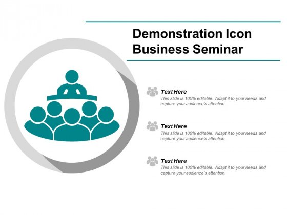 Demonstration Icon Business Seminar Ppt Powerpoint Presentation Styles Picture