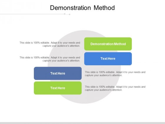 Demonstration Method Ppt PowerPoint Presentation Professional Guidelines Cpb Pdf