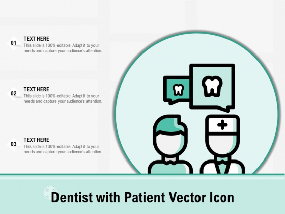 Dentist With Patient Vector Icon Ppt PowerPoint Presentation Inspiration Portfolio PDF