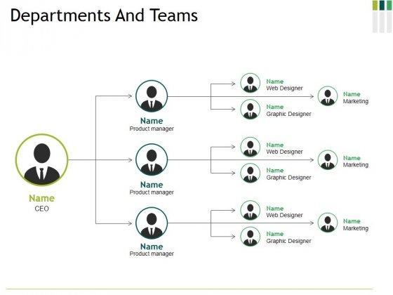 Departments And Teams Ppt PowerPoint Presentation Pictures Graphic Tips