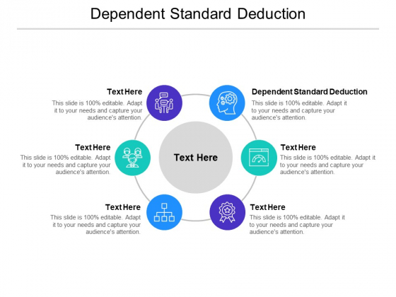 Dependent Standard Deduction Ppt PowerPoint Presentation Outline Templates Cpb Pdf