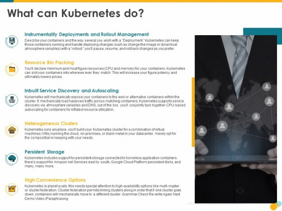 Deploying Docker Container And Kubernetes Within Organization What Can Kubernetes Do Deploying Ppt PowerPoint Presentation PDF