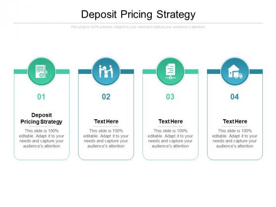 Deposit Pricing Strategy Ppt PowerPoint Presentation Model Master Slide Cpb