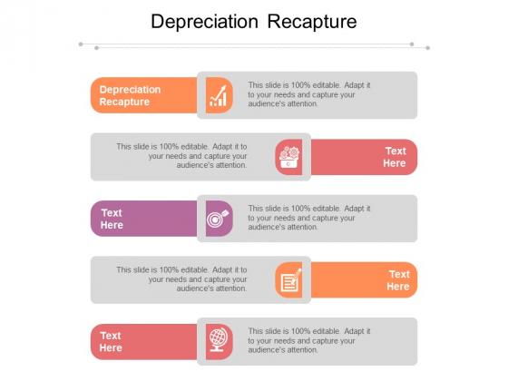 Depreciation Recapture Ppt PowerPoint Presentation Layouts Topics Cpb Pdf