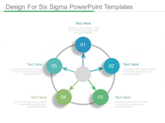 Design For Six Sigma Powerpoint Templates