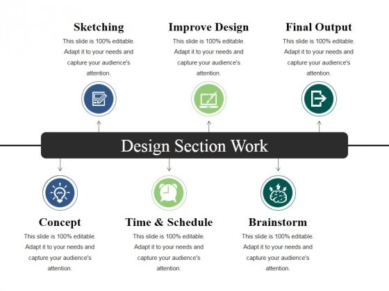 Design Section Work Ppt PowerPoint Presentation Ideas Icon