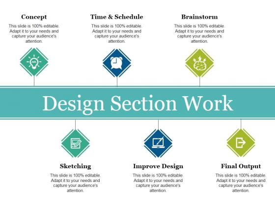 Design Section Work Ppt PowerPoint Presentation Layouts Objects