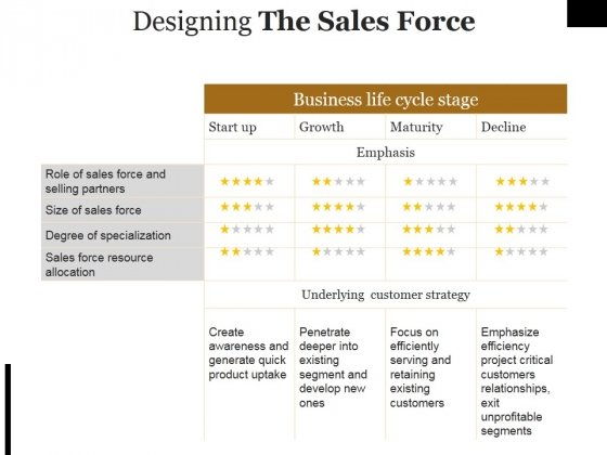 Designing The Sales Force Ppt PowerPoint Presentation Pictures Format