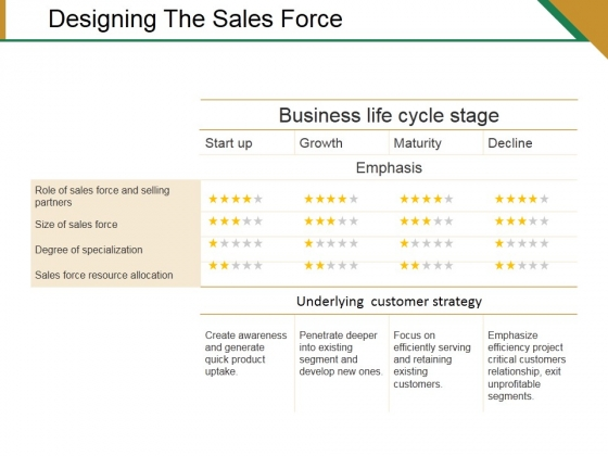 Designing The Sales Force Ppt PowerPoint Presentation Visual Aids Summary