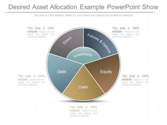 Desired Asset Allocation Example Powerpoint Show