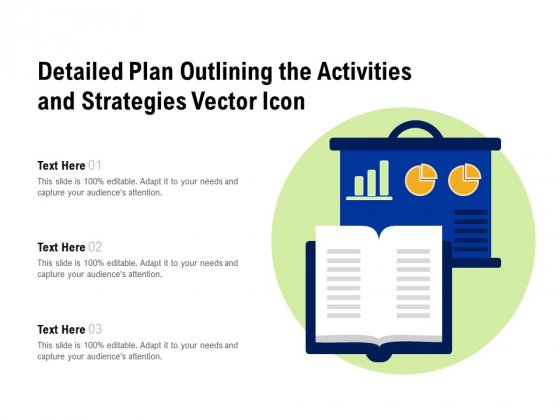 Detailed Plan Outlining The Activities And Strategies Vector Icon Ppt PowerPoint Presentation Professional Model PDF