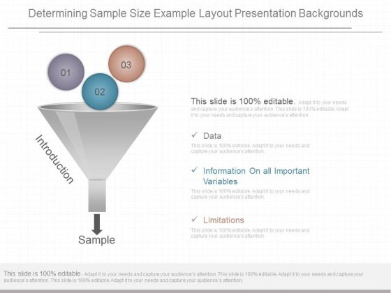 Determining Sample Size Example Layout Presentation Backgrounds