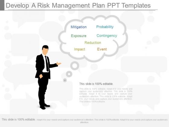 Develop A Risk Management Plan Ppt Templates