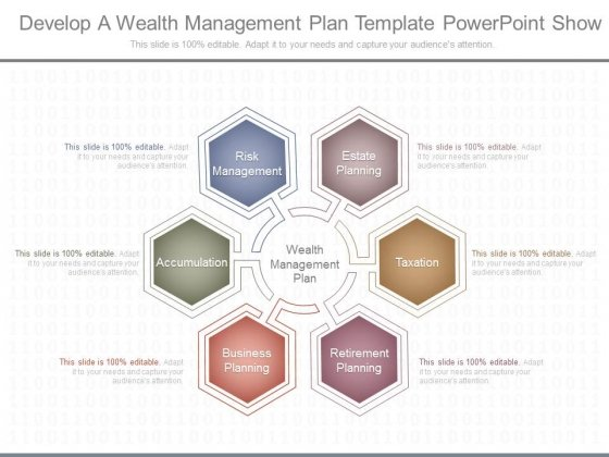 Develop A Wealth Management Plan Template Powerpoint Show
