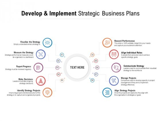 Develop And Implement Strategic Business Plans Ppt PowerPoint Presentation Outline Example Topics