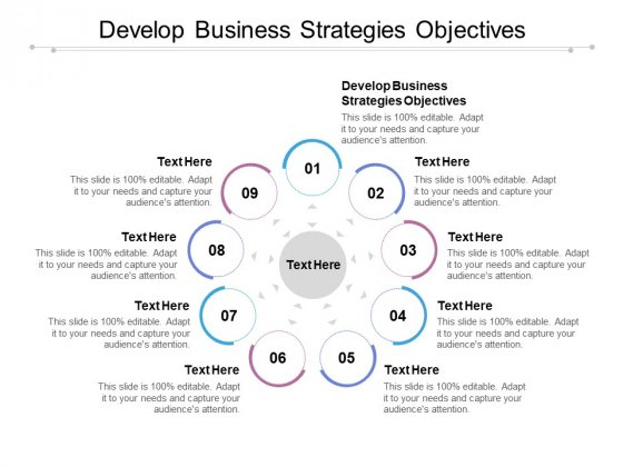 Develop Business Strategies Objectives Ppt PowerPoint Presentation Show Information Cpb