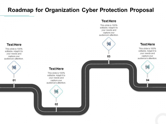 Develop Corporate Cyber Security Risk Mitigation Plan Roadmap For Organization Cyber Protection Proposal Summary PDF