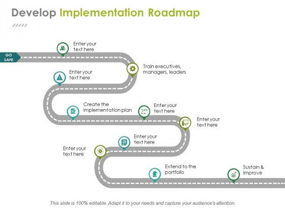 Develop Implementation Roadmap Ppt PowerPoint Presentation Infographics Elements