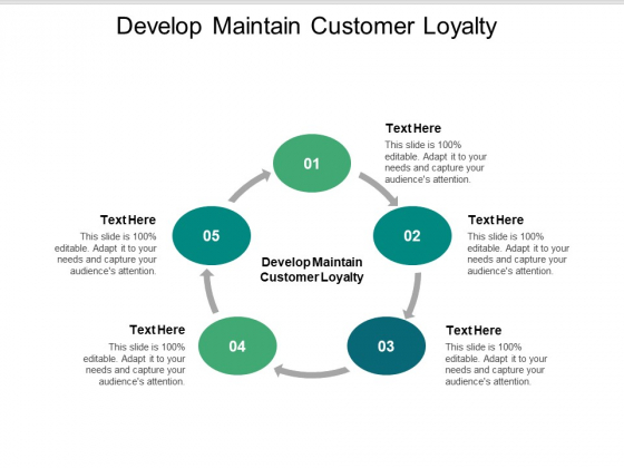 Develop Maintain Customer Loyalty Ppt PowerPoint Presentation Example File Cpb Pdf
