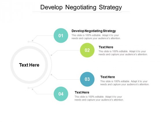 Develop Negotiating Strategy Ppt PowerPoint Presentation Infographic Template Inspiration Cpb